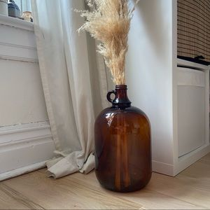 Amber Glass Gallon Jug | 🌾🌾🌾